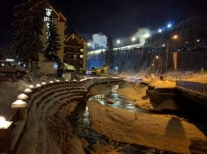 Bukovel Village at Night
