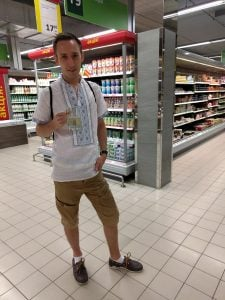 Drinking Cider in the Supermarket