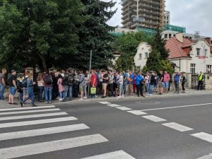 Queue at Krakow Consulate